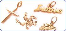 24k Gold Charms Pendants